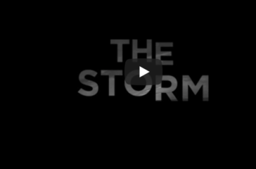White writing against black background 'The Storm'