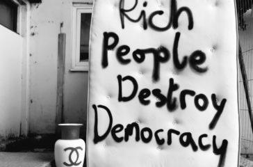 Rich People Destroy Democracy artwork by Jordan McKenzie